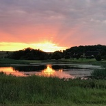 Sunset at Lekoa Lodge